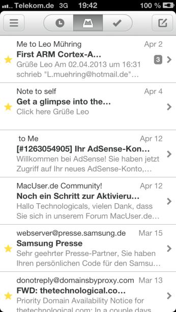 Mailbox auf dem iPhone