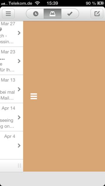 MAn kann auch alle Mails gleichzeitig bearbeiten.