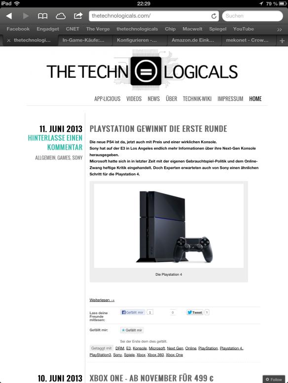 Unsere Website im 4:3 Hochformat
