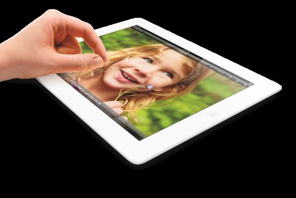 Das iPad (4th Gen)  mit einem 4:3 Display.