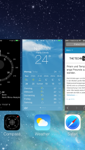 Multitasking in iOS7