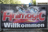 Das Banner am Eingang der AnimagiC 2013