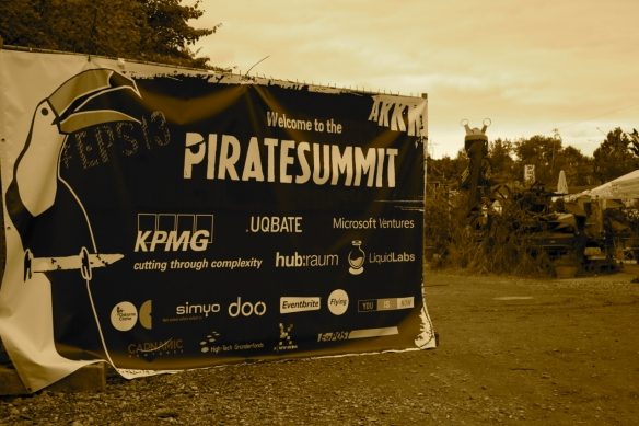 Der Eingang zum European Pirate Summit 2013!