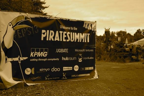 Der Eingang zum European Pirate Summit 2013!