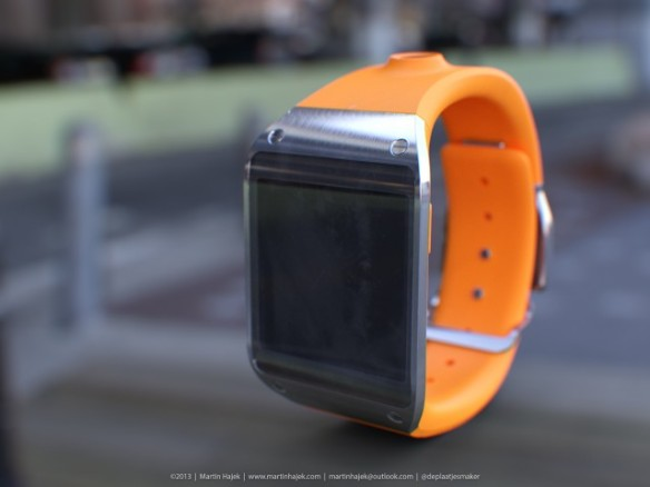Samsungs Galaxy Gear Smartwatch. Quelle: Martin Hajek