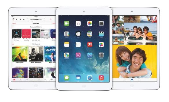Das iPad mini im iOS7-Look. Quelle: Apple