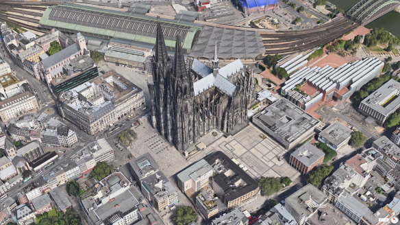 Der Kölner Dom in Apple Maps.