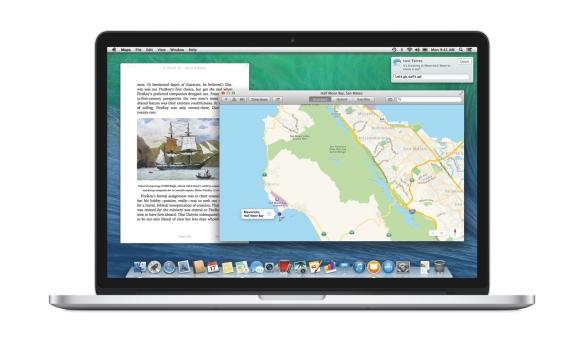 iBooks, Maps und die neuen Benachrichtigungen auf dem 15 Zoll MacBook Pro.