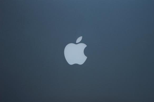 Das Logo von Apple. Foto: Leonard Mühring