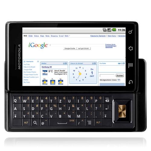Das Milestone verhalf Android zum Sprung auf die ganz große Bühne. Quelle: Motorola