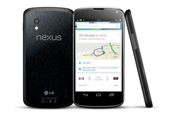 Mit dem Nexus 4 stellte Google Android 4.1 Jelly Bean vor. Quelle: Google.