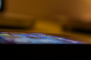 iPhone Display von der Seite