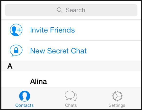 """Man sollte darauf achten immer den """"secret chat"""" zu nutzen."""