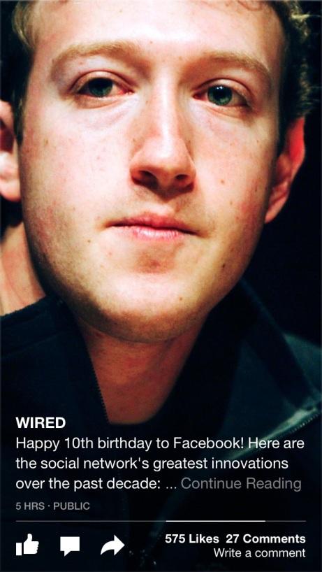 Eine Bild, dass das WIRED-Magazine mit einem Link zu einem Artikel auf Facebook gepostet hat. Quelle: WIRED.com via Facebook