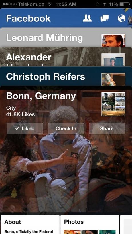 Manchmal kann Facebook Paper auch unübersichtlich werden.