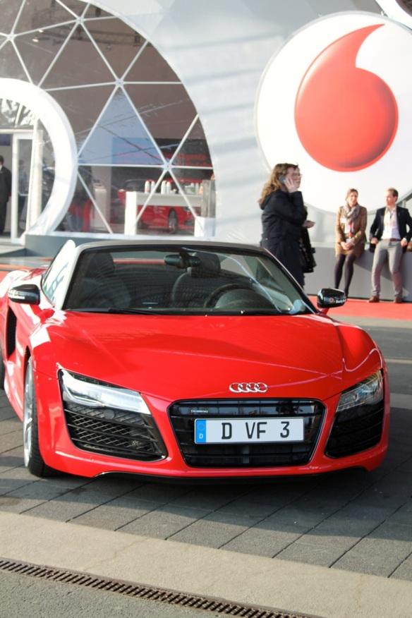 Die VW-Tochter Audi teilte sich mit Vodafone einen Pavillon.