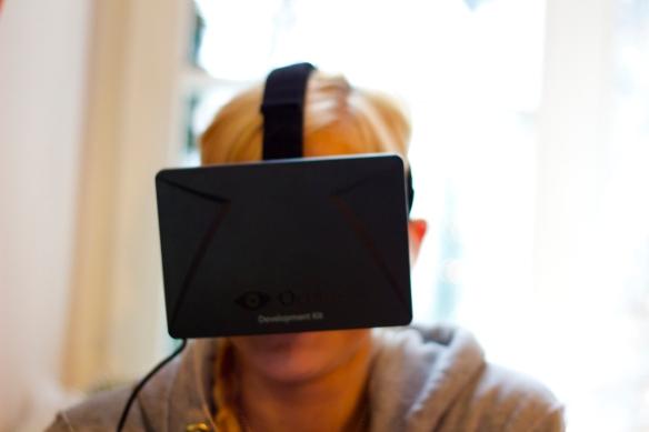 Der erste Prototyp der Oculus Rift im Einsatz.