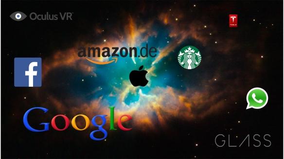 Diese Marken bestimmen die Zukunft. Alle hier verwendeten Marken und Logos sind Eigentum der jeweiligen Unternehmen.  Das Hintergrundbild gehört der NASA.
