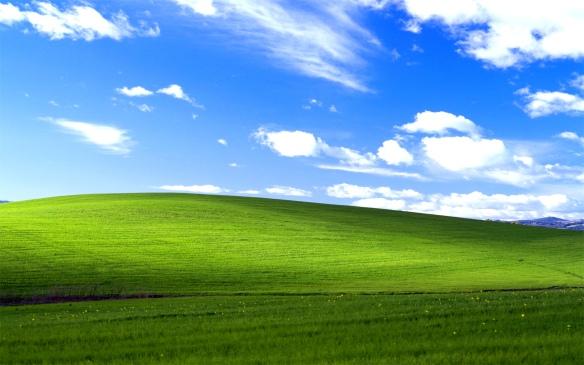 """Das """"Bliss"""" genannte Bild ist zu einem der Markenzeichen von XP geworden. Rechte: Microsoft."""