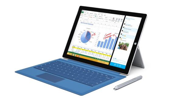 Mit Tastatur und Stift, Trackpad und Finger ist das Surface Pro 3 vielfältig zu bedienen.