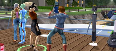 Auch Parties lassen sich in Die Sims 2 feiern. Quelle und Rechte: EA