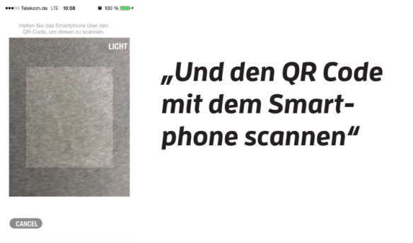 Statt NFC nutzt Yapital QR-Codes.