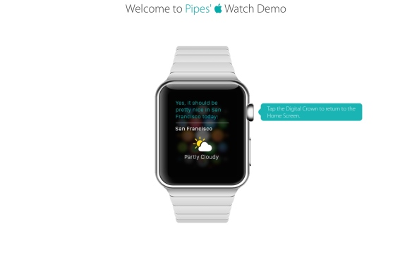 AppleWatch Demo Wetter