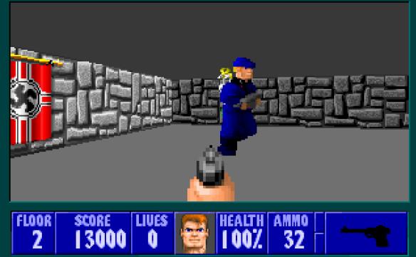Aus dem 1992 erschienenen Wolfenstein 3D mussten alle Hakenkreuze entfernt werden