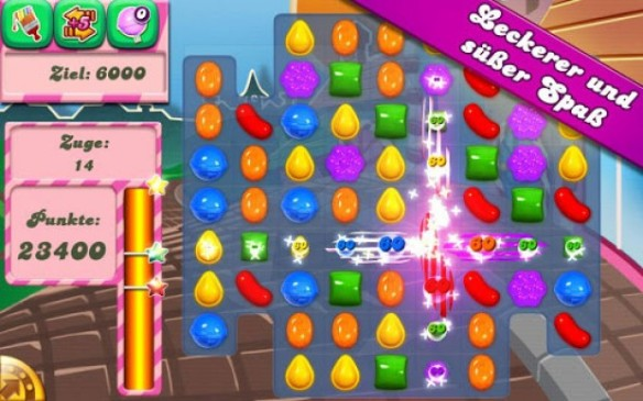 Das Free-to-play Game Candy Crush Saga. Casual, einfach, schnell.