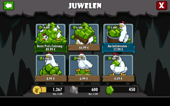 In-App-Käufe in Dungeon Keeper