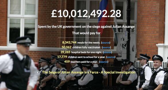 Kosten Assange Wikileaks Bewachung.