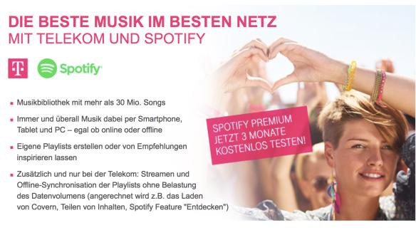 Telekom Spotify Zero Rating