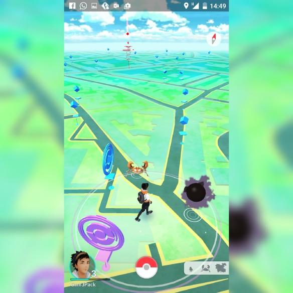 Auf der Map werden euch in echtzeit wilde Pokemon, Pokestops und Arenen angezeigt.