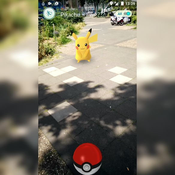 Unser erstes Pokemon - ein Pikachu