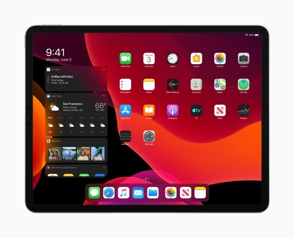 Apple_iPadOS_Today-View-Dark-Mode_060319